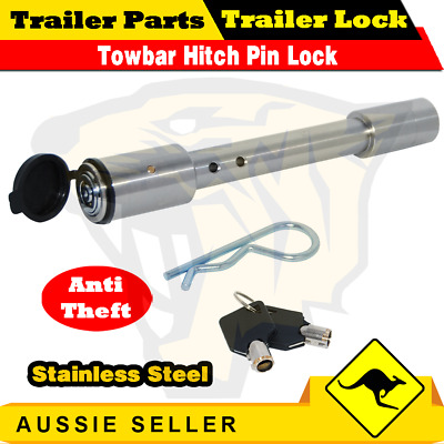 AU33 • Buy Hitch Pin Lock Security Tow Ball Bar SS304 Caravan Trailer Stainless Steel!!