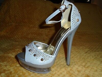 Womens Heels Via Guilia Studded Party Lap Dancing New UK Size 3 • 7.95£