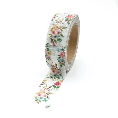 AU5.50 • Buy Washi Tape Vintage Floral Bouquet Of Flowers 15mm X 10m