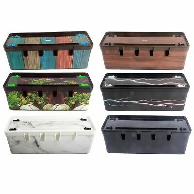 £11.99 • Buy Maqio Home Cable Tidy Wire Management IML Print Box - Various Colours
