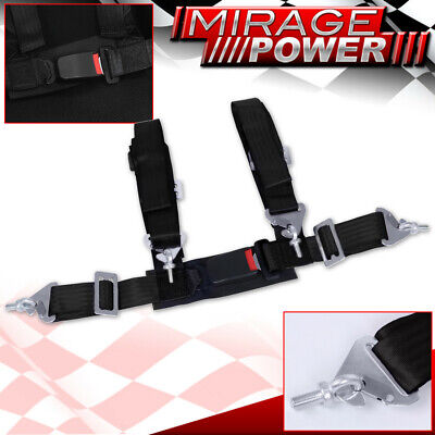 $ CDN38.03 • Buy Black 4Pt Single Safety Seat Belt Harness Strap 2  W/ Buckle Latch On / Off