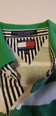 f709403d890 Vintage Tommy Hilfiger Striped Polo Rugby Shirt 90s Crest Logo L  Multicolored • 25.76$