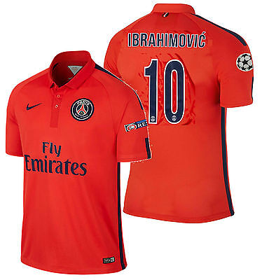 AU285.47 • Buy Nike Ibrahimovic Paris Saint-germain Psg Uefa Champions League Third Jersey 2015