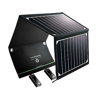 AU142.95 • Buy RAVPower Solar Charger 16W Solar Panel With Dual USB Port Waterproof Foldable Ca