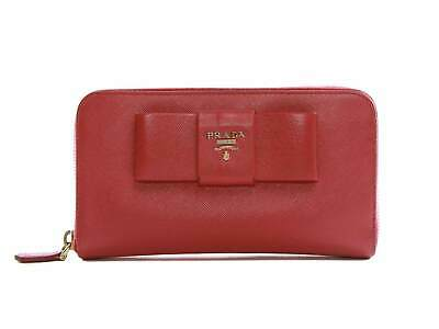 Authentic Prada Saffiano Pink Leather Zip Around Wallet • 205.36£