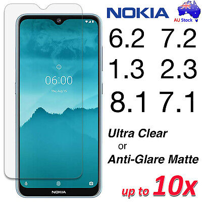 AU2.99 • Buy Clear Or Anti-Glare Matte Screen Protector Film For Nokia 2.3 1.3 7.2 6.2 8.1