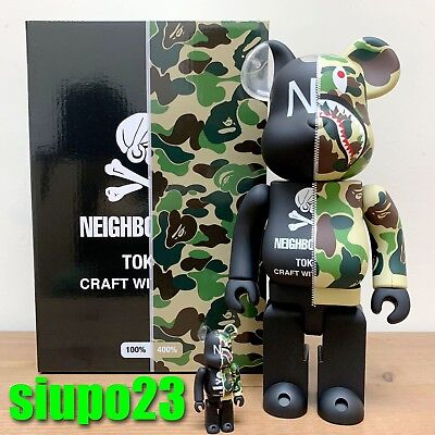 $599.99 • Buy Medicom 400% + 100% Bearbrick ~ A Bathing Ape Bape Neighbourhood NBHD Be@rbrick