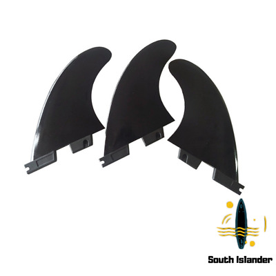 AU21.89 • Buy FCS FCS2 Futures 3PCS Surfboard Fins G5 Thruster Fin Black Fast Shipping Surfing