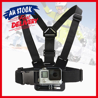 AU11.52 • Buy Elastic Chest Strap Compatible With GoPro Hero Camera Harness Mount Adjustable