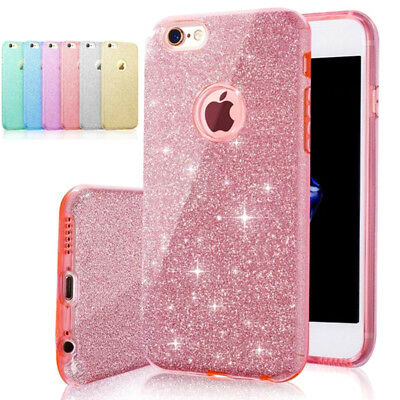 AU8.03 • Buy 3in1 Layers Bling Glitter Shockproof Soft Gel Case Cover For Apple IPhone 7 / 8