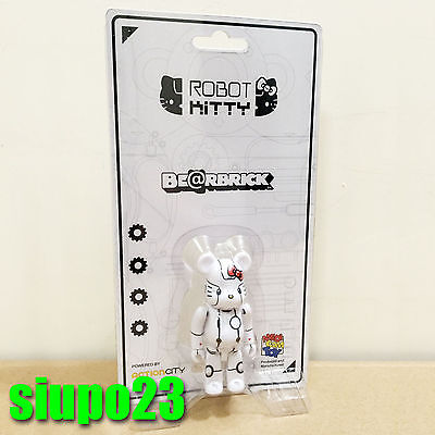 $52.99 • Buy Medicom 100% Bearbrick ~ Action City Hello Kitty Be@rbrick Robot Kitty White Ver