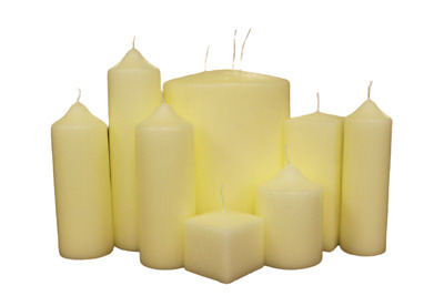 £6.75 • Buy Church Pillar Candles - High Quality Ivory-White Large Unscented Long Burn Wax