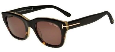 d02f5b5943c Tom Ford Sunglasses Snowdon FT TF 0237 05J Black Havana Frames Brown Lens  50MM • 217.99
