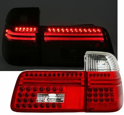 $395 • Buy Red Clear LED Tail Lights Rear Lights For BMW 5 Series E39 Touring Wagon 97-04