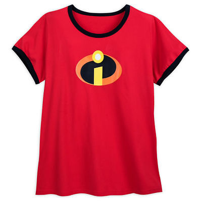 Disney Store Authentic The Incredibles Logo Womens T Shirt Tee Plus Size 4XL • 13.55£