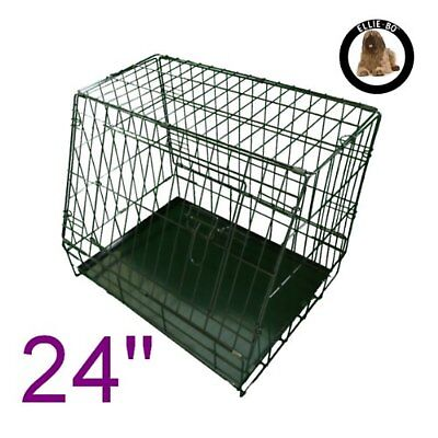 £127.83 • Buy Sloping Dog Crate Puppy Cage Folding For Car Travel Small Black NEW UK SALE