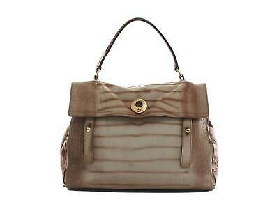 Authentic Yves Saint Laurent Muse II Crocodile Pattern Brown Leather Bag • 311.15£