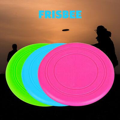 AU4.88 • Buy Dog Puppy Fetch Training Toy Flying Disc Silicone Frisbee Kids Toy 3 Colours