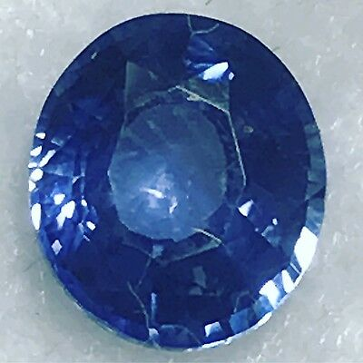 Natural 1.26 Carat Unheated Blue Sapphire Oval Genuine Loose Gemstone Ceylon • 250$