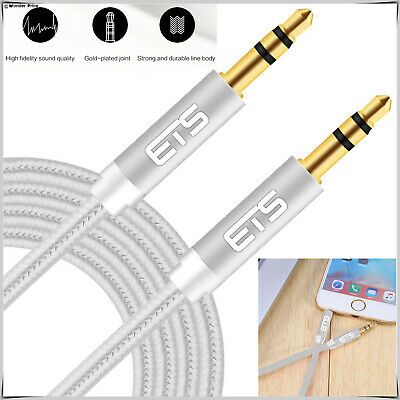 £2.75 • Buy 3M 3.5mm Jack To Jack Aux Cable STEREO Audio Auxiliary Lead For Mp3 Mobile Plug