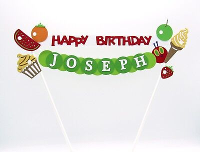 Personalised Cake Topper - The Hungry Caterpillar - Birthday Cake Decoration • 12.95£