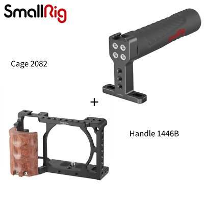 $ CDN76.58 • Buy SmallRig Cage With Wooden Handgrip And Top Handle Kit Rig For Sony A6300 A6000
