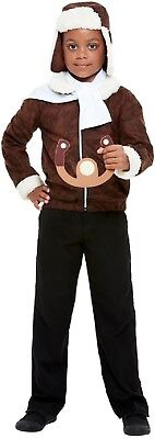 Boys WW1 Pilot RAF Soldier Army Military War Book Day Fancy Dress Costume Outfit • 17.99£