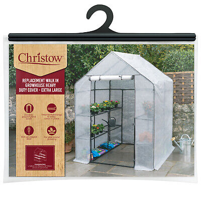Large Walk In Greenhouse Replacement Cover Grow House Protector – COVER ONLY • 49.99£