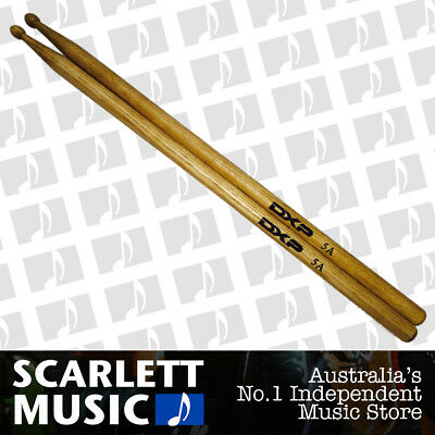 AU8.95 • Buy DXP D115A Maple 5A Drum Sticks With Wooden Tips - New
