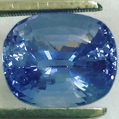 Natural 10.08 Carat Huge Unheated Blue Sapphire Genuine Loose Ceylon Gem Cushion • 8,500$