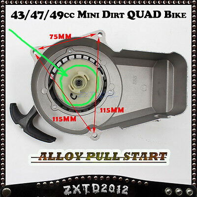 AU21.24 • Buy Alloy Pull Start Starter 47cc/49cc/50cc 2 Stroke Pocket Bike Mini Dirt  ATV Quad