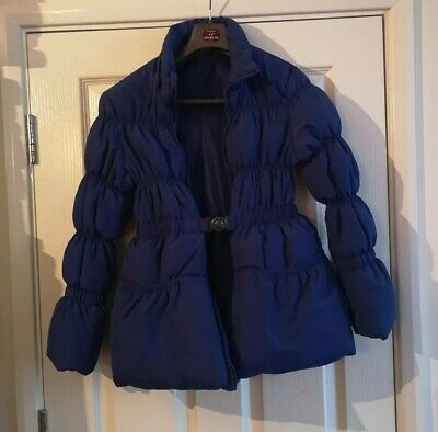 £10 • Buy Girls 10/12years Padded Feather/Down Quilted Winter Coat Jacket Puffer, 146 Cm