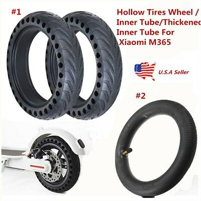 $22.89 • Buy Upgraded Hollow Tires Wheel/8 1/2X2 Inner Tube For Xiaomi M365 Electric Scooter