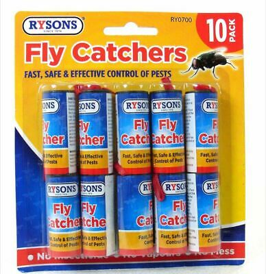 10 X Fly Catchers Insect Sticky Killer Tape Strip Paper Windows Doors Wasp Pest  • 1.99£