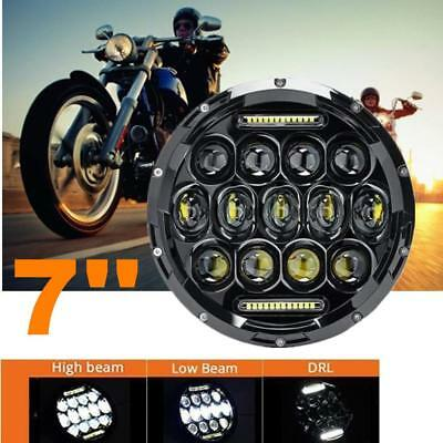 AU36.89 • Buy 7inch 75W LED Headlight Motorcycle Driving High-Low Beam DRL Replacement Light