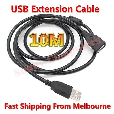 AU5.85 • Buy USB Type-A Male To Female M/F Extension Cord With Magnetic Ring 10M 5M 3M 1M AU