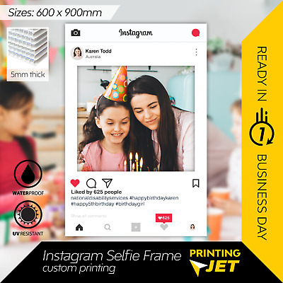 AU45 • Buy Instagram Selfie Frame Photo Booth Prop 60 X 90 Cm  [5mm Thick Corflute]