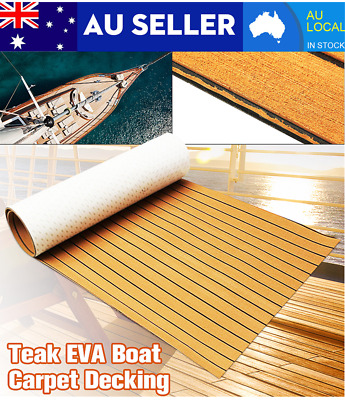 AU42.56 • Buy 240x90cm Marine Boat Flooring EVA Foam Yacht Teak Decking Sheet Carpet Floor