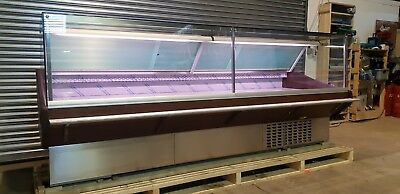 MAXI SQ Serve Over Counter 3.0 M Long Display Fridge Meat Chiller Shop Square • 2,990£