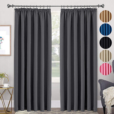 Blackout Thermal Curtain Linings Ready Made 3 Pass Lining Curtain Pencil Pleat • 17.99£
