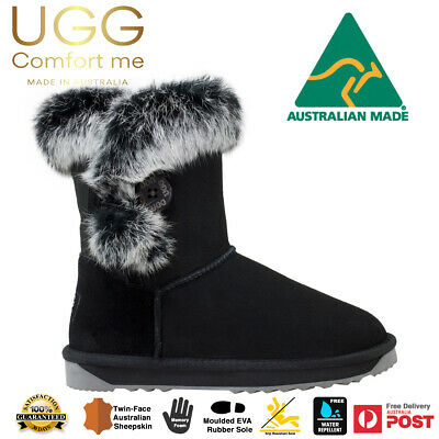 AU119 • Buy UGG Boots, Button Fur AUSTRALIAN MADE, Australian Merino Sheepskin, Memory Foam
