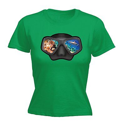AU18.64 • Buy Ocean View Goggles WOMENS Open Water T-SHIRT Tee Mothers Day Scuba Diving Gift