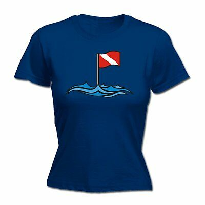 AU18.64 • Buy Dive Site Buoy Flag WOMENS Open Water T-SHIRT Tee Mothers Day Top Scuba Diving