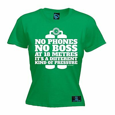 AU18.64 • Buy No Phone No Boss Different Pressure WOMENS Open Water T-SHIRT Mothers Day Scuba