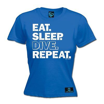 AU18.64 • Buy Eat Sleep Dive Repeat WOMENS Open Water T-SHIRT Tee Mothers Day Funny Diving