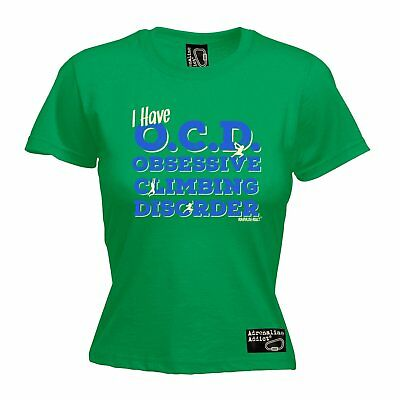 AU18.64 • Buy OCD Obsessive Climbing Disorder WOMENS Adrenaline Addict T-SHIRT Tee Mothers Day