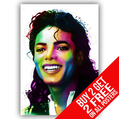 Michael Jackson Poster Art Print A4 A3 Size -buy 2 Get Any 2 Free • 8.99£