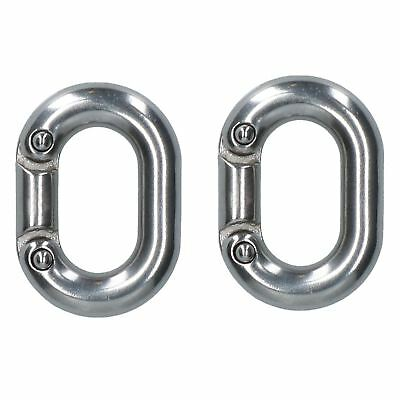 2 X Chain Connecting Link 6mm Marine Grade Stainless Steel Split Shackle DK70 • 7.20£