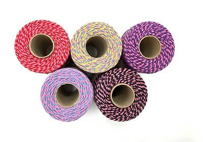 £1.65 • Buy 10m Length Pink Bakers Twine - 2 Tone / 3 Tone - Eco Friendly Packaging String
