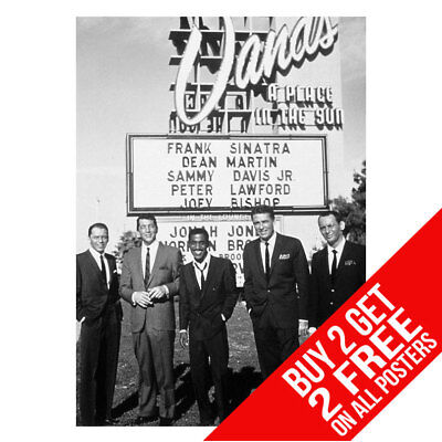£8.99 • Buy The Rat Pack Sinatra Dean Martin Las Vegas Poster A4 A3 -buy 2 Get Any 2 Free